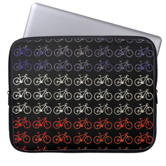 many bikes / patterning laptop sleeve