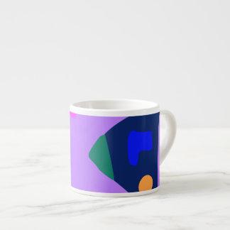 Many Blessing Modern Joyful Sense Variations 45 6 Oz Ceramic Espresso Cup