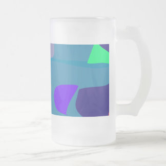 Many Blessing Modern Joyful Sense Variations 50 16 Oz Frosted Glass Beer Mug