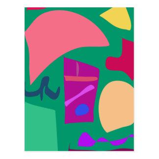 Many Blessing Modern Joyful Sense Variations 55 Postcard