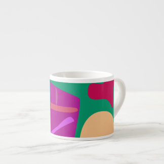 Many Blessing Modern Joyful Sense Variations 55 6 Oz Ceramic Espresso Cup