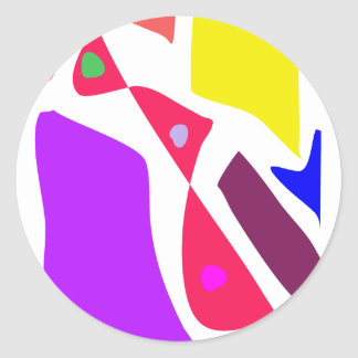 Many Blessing Modern Joyful Sense Variations 64 Classic Round Sticker