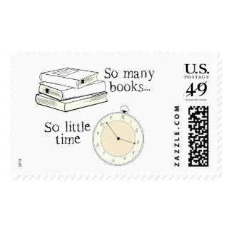 Many Books, Little Time Postage Stamp