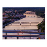 Many Bridges Span The Grand River, Sunset View Postcard