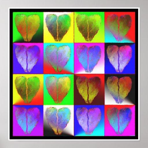 many broken hearts print