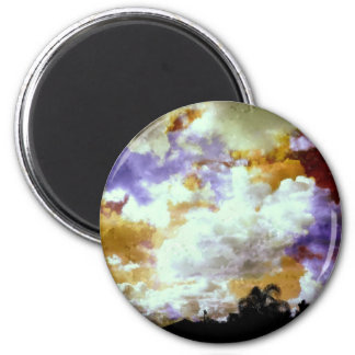 Many Broken Pieces in the Sky 2 Inch Round Magnet