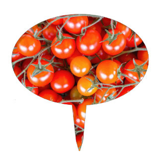 Many bunches of red vine tomatoes cake topper