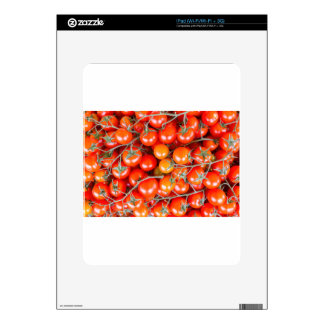 Many bunches of red vine tomatoes iPad decal