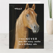 Many Candles Over the Hill Funny Horse Card