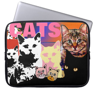 many cats images laptop sleeve