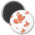Many Clown Fish 2 Inch Round Magnet