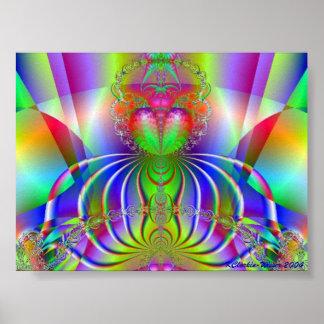 Many Colored Budda Poster