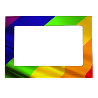 many colored rainbow flag magnetic frame