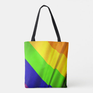 many colored rainbow flag tote bag