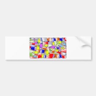 Many Colorful Books Bumper Sticker