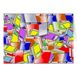 Many Colorful Books Card