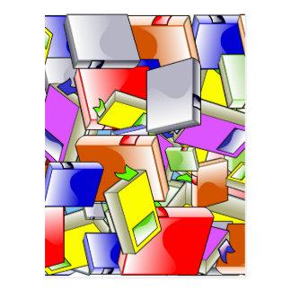 Many Colorful Books Postcard