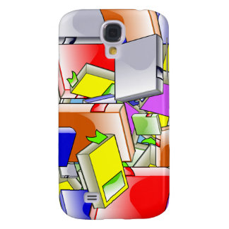 Many Colorful Books Samsung Galaxy S4 Cover