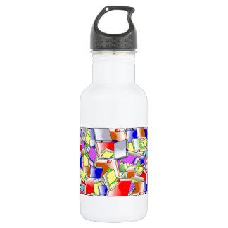 Many Colorful Books Stainless Steel Water Bottle