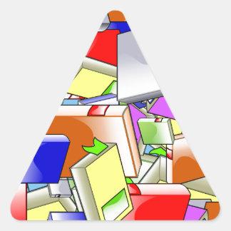 Many Colorful Books Triangle Sticker