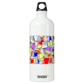Many Colorful Books Water Bottle