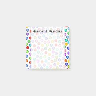 Many Colorful Circles + Custom Name Note
