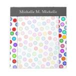 [ Thumbnail: Many Colorful Circles + Custom Name Notepad ]