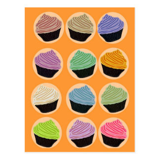 Many colorful cupcakes postcard