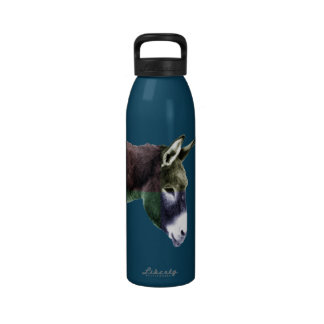 Many Colors Burro - Western Drinking Bottles
