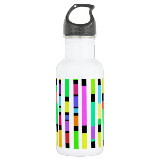 Many Colourful Stripes Water Bottle