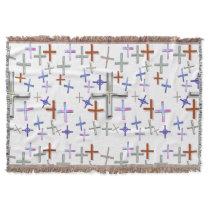 Many Crosses Throw Blanket