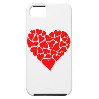 Many Curvy Red Hearts within an Even Bigger Heart iPhone SE/5/5s Case