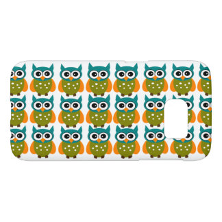Many Cute and Colorful Owls Pattern Samsung Galaxy S7 Case