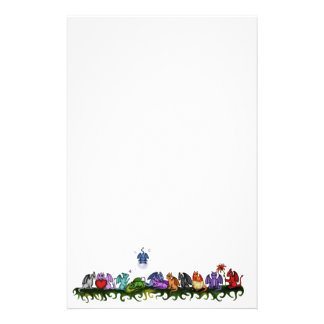 many cute Dragons Stationery Design