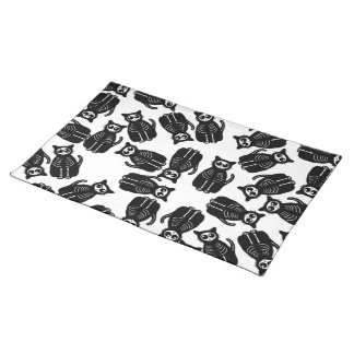 Many Cute Halloween Cartoon Cat Skeleton Cloth Placemat