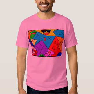 Many deformed facial expressions. t-shirt