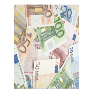 Many Euro banknotes Flyer