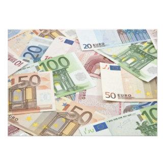 Many Euro banknotes Invitations
