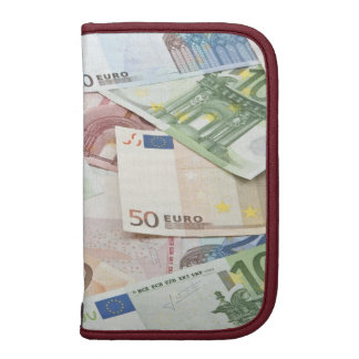 Many Euro banknotes Folio Planners