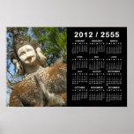 Many Face Wai 2012 / 2555 Buddhist Calendar Poster