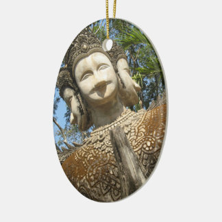 Many Face Wai ... Nong Khai, Isaan, Thailand Ceramic Ornament