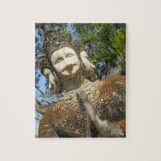 Many Face Wai ... Nong Khai, Isaan, Thailand Jigsaw Puzzle