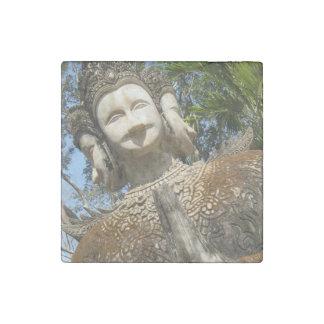 Many Face Wai ... Nong Khai, Isaan, Thailand Stone Magnet