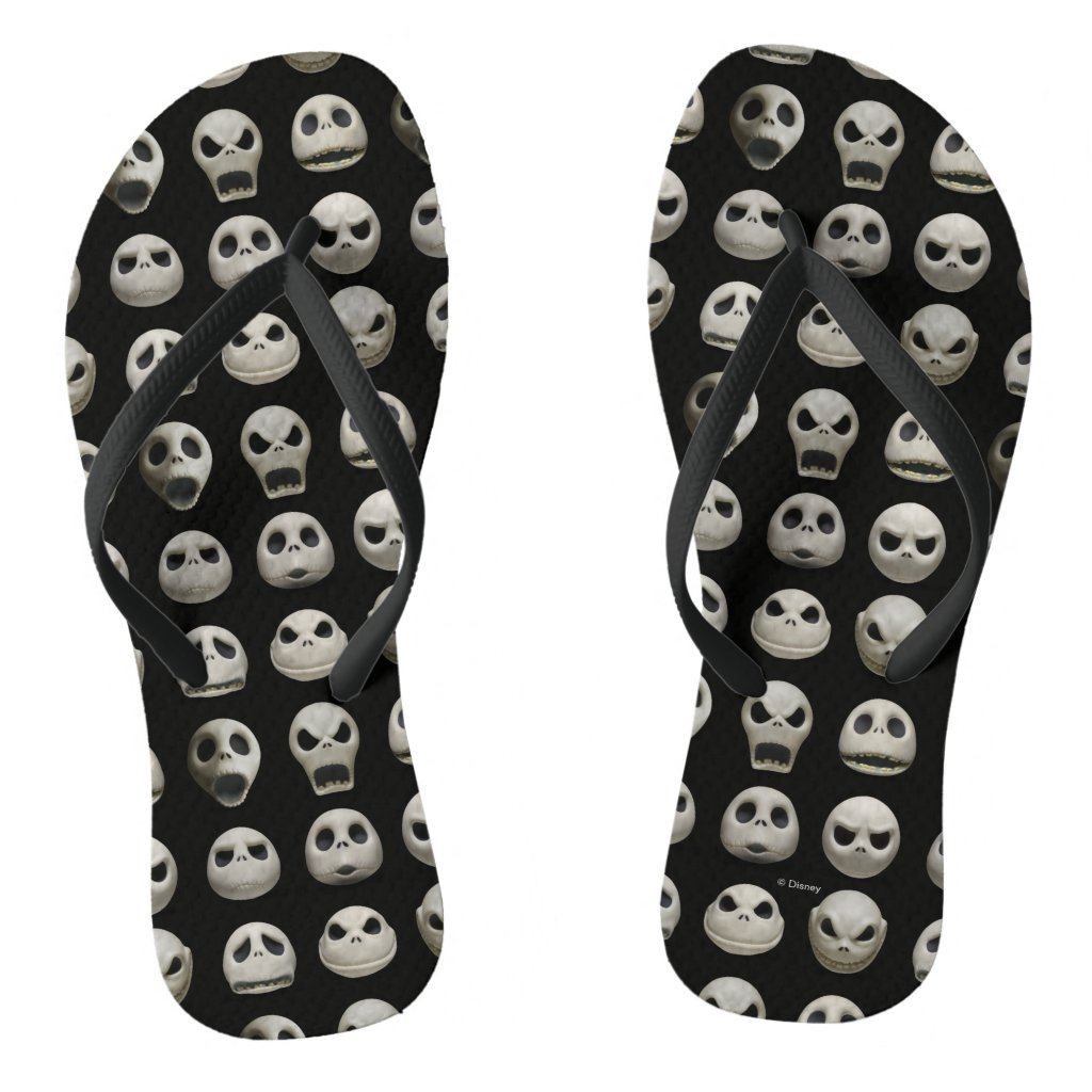 Many Faces of Jack Skellington - Pattern Flip Flops