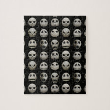 Many Faces of Jack Skellington - Pattern Jigsaw Puzzle