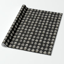 Many Faces of Jack Skellington - Pattern Wrapping Paper