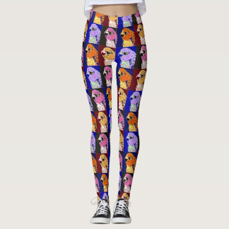 Many Faces of Taz Leggings