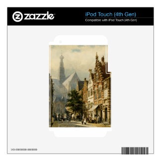 Many figures in the streets of Haarlem by Cornelis iPod Touch 4G Decals
