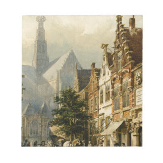 Many figures in the streets of Haarlem by Cornelis Notepad