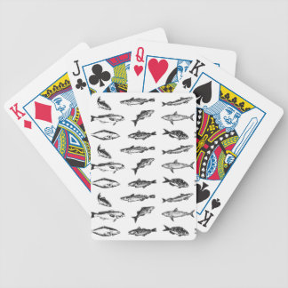 Many fishes: a collection of fish bicycle playing cards
